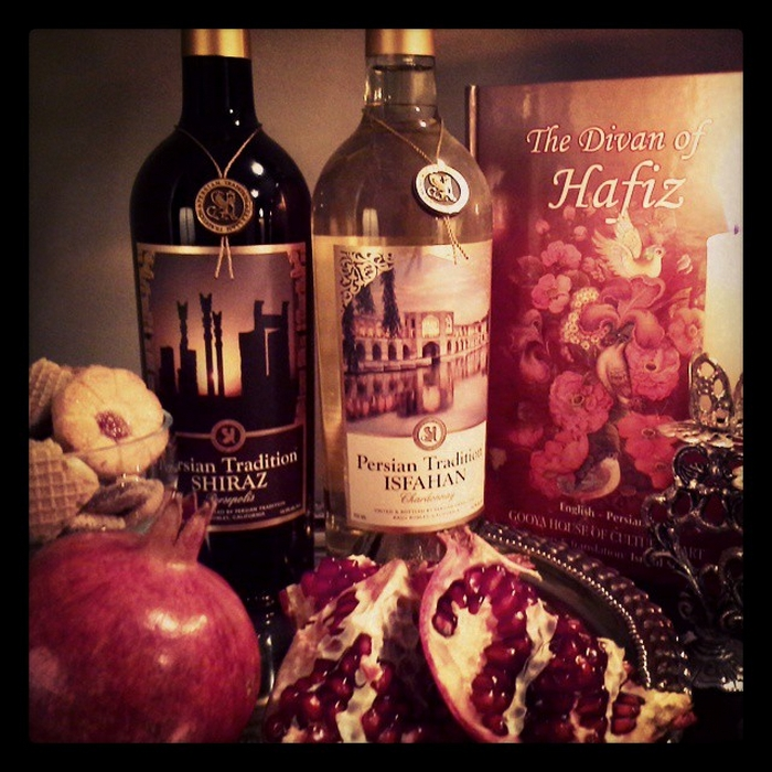 Hafez Pomegranate and Persian wine