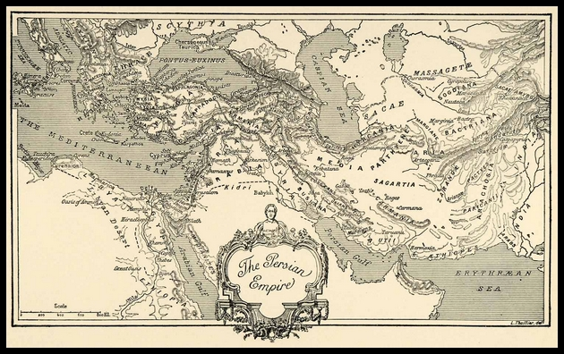 Map of The Persian Empire: Inspiration for Persian Tradition Wine