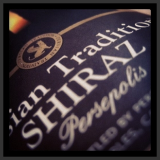 Persepolis Shiraz Wine from the Central Coast in California