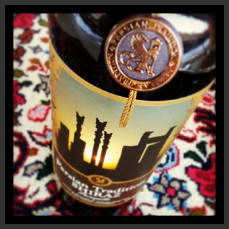 Persian Lion on our Bottle with Persepolis on the label